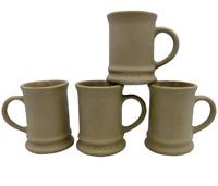 4 Hartstone Pottery Buff Stoneware Mugs Vintage Child Size or AD Espresso USA