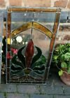 Stunning Victorian art nouveau stained glass leaded window panel