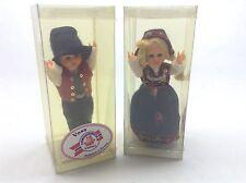 Vintage Norway Souvenir Dolls Handmade Blinking Eyes Voss And Golog Hemsedal