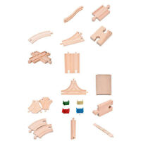 ITS- Wooden Train Track Connectors Adapters Expansion Railway Accessories Toy Mo