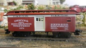 Roundhouse MDC HO Rio Grande Overton Baggage Car, Red Car, Upgraded, Ex