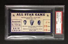 1936 ALL STAR GAME TICKET BRAVES FIELD  GEHRIG HR  PSA