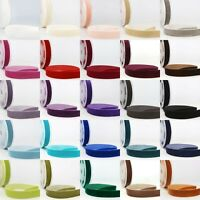La Stephanoise Velvet Ribbon Cut Lengths - High Quality - 5 Widths - 27 Colours