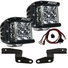 RIGID A-Pillar Mount Kit D-SS Side Shooter LED Lights for 18-20 Jeep Wrangler JL