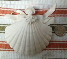Large Margaret Furlong Bouquet Angel Shell 1987 Bisque Christmas Ornament
