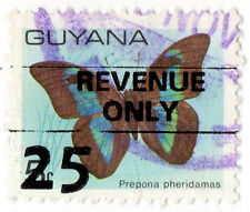 (I.B) British Guiana (Guyana) Revenue : Duty Stamp 25c on 5c OP