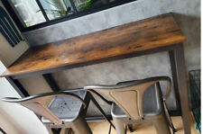 Modern Industrial Vintage Breakfast Bar Console Table Kitchen Island with Large