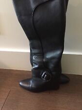 Black Tall Leather Balenciaga Boots