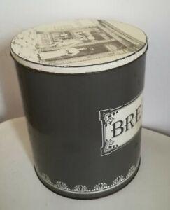 Antique/Vintage Large Round Metal Bread Bin