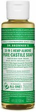Dr Bronner's / Bronners 18-In-1 Hemp Almond Scent Pure-Castile Soap 4 oz Organic