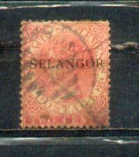 1886 Malaysia Malaya straits Settlements Ovpt Selangor.