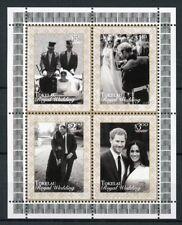 Tokelau 2018 MNH Prince Harry & Meghan Royal Wedding 4v M/S Royalty Stamps