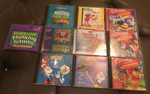 Educational Youth CD-ROM Lot Of 10 Windows/ Mac Interactive Learning Disney Elmo