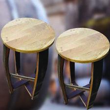 Pair of Natural Oak Wooden Breakfast Barstools   Kitchen Seats   Bar Stools