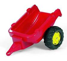 ROLLY KID TOYS CHILDRENS KIDS PEDAL RED TRACTOR TRAILER