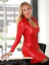 Leder Jacke Lederjacke Rot Business-Style Maßanfertigung
