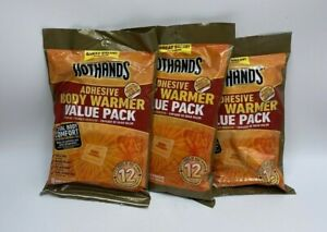 Set Of 3 HotHands Adhesive Body Warmer Value Packs Exp. Date 9/23