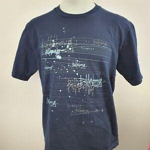 Billabong Short Sleeve T-Shirt Mens Size Large Blue Printed