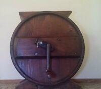 Antique Table Top Wood Barrel Butter Churn