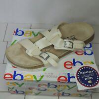 Birki's Birkenstock Women Ivory Two Strap slip on Sandals Size EU 40 US 9 UK 7