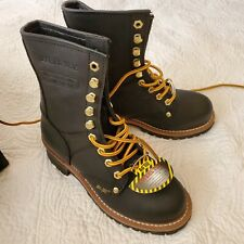 Ad Tec Men's Logger,Size 6M.Work Boot - Steel Toe - 1428.Black oiled leather.NEW