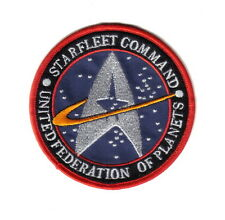 Star Trek Original Series Starfleet Command Logo Embroidered Patch Blue Version