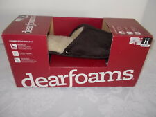 DEARFOAMS SLIPPERS M 9-10 COFFEE BROWN COMFORT TECHNOLOGY TERRY CLOTH LINING NEW