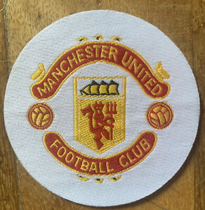 Original 1970 Football Embroidered Player Shirt Badge Manchester United Club