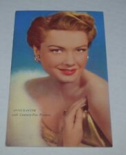 anne baxter hollywood movie star 1950s RPPC vintage postcard