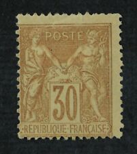 CKStamps: France Stamps Collection Scott#82 Mint H OG Tiny Tear Crease