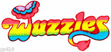 "8"" Wuzzles banner logo vintage fabric applique iron on character"