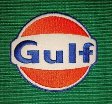 Gulf Oil Gasoline Vintage Biker F1 Racing Iron/ Sew-on Embroidered Patch/ Logo