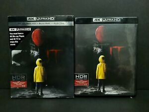 IT (4K UHD Blu-ray, 2017) w/ Slipcover. 4K DISC ONLY. King, Pennywise