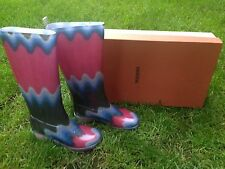 STYLISH Rain Essentials Signature Missoni Wellington Boots RRP£240 ,4/37