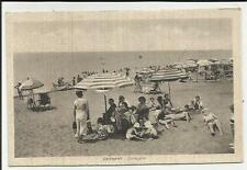 STUPENDA CARTOLINA DI LADISPOLI CON MOLTISSIME PERSONE ANIMATA 1941 SPEDITA