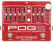 Electro Harmonix POG 2 Polyphonic Octave Generator Effects Pedal EHPOG2