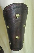 Gladiator Leather Armor Bracers Cuffs LARP COSPLAY