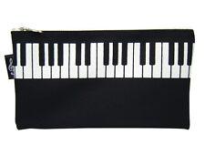 Music Themed High Quality Keyboard Design Black Pencil Zipper Pouch