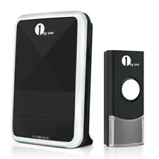 1Byone Wireless Cordless Door Bell Portable Chime Visitor Ring 100M 36 Melody