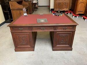 Antiker traumhafter doppelseitiger Jugendstil Schreibtisch - Lieferung möglich!