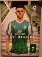 SV Werder Bremen + Original Autogrammkarte 2020/2021 + Milot Rashica + AK2021033