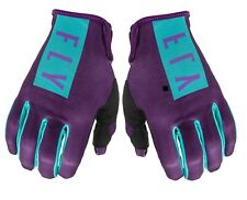 Fly Racing Womens Lite Gloves Purple Blue Size 8 Men's Small Women's Large
