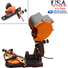Electric Chain Saw Sharpener Bench Grinder Chainsaw Grinder Bench Mount 80W USPS