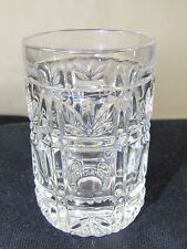 Pressed Glass Pineapple top & Thumbprint Toothpick Holder #113 Free USA Ship