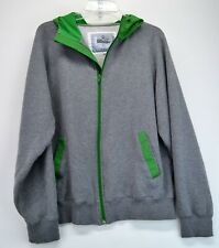 Bitburger Mens Large Grey/Green Full Zip Jacket (No Strings in Hood) (E5)