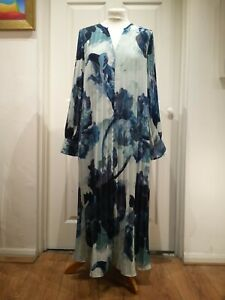 Modern Rarity Archive Bloom Print Shirt Dress, Blue UK10 RRP100 Without Label
