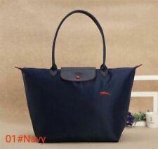 Longchamp Le Pliage Tasche Limited Edition L langen Henkeln Handtasche Navy Blau
