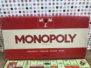 Vintage Monopoly Board Game, Made in England, Complete, Original Boxed