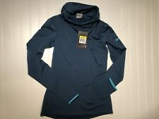 NWT Nike Pro Therma Fit Dri Blue Green Turtleneck Running Pullover Shirt Small