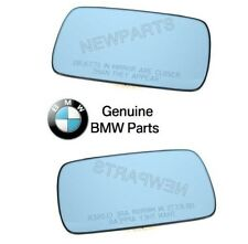 For BMW E28 E30 Pair Set of Left & Right Door Mirror Glass Non-Heated OES